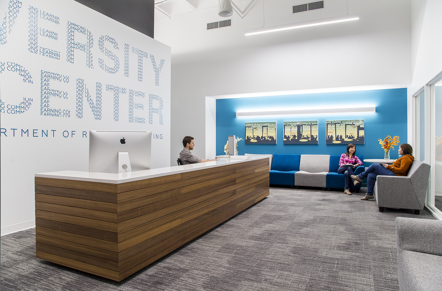University Writing Center reception area. Image courtesy Gensler.