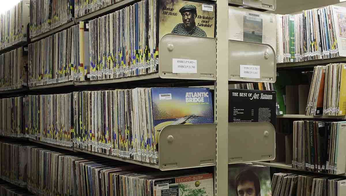 Records in the stacks of the HMRC.