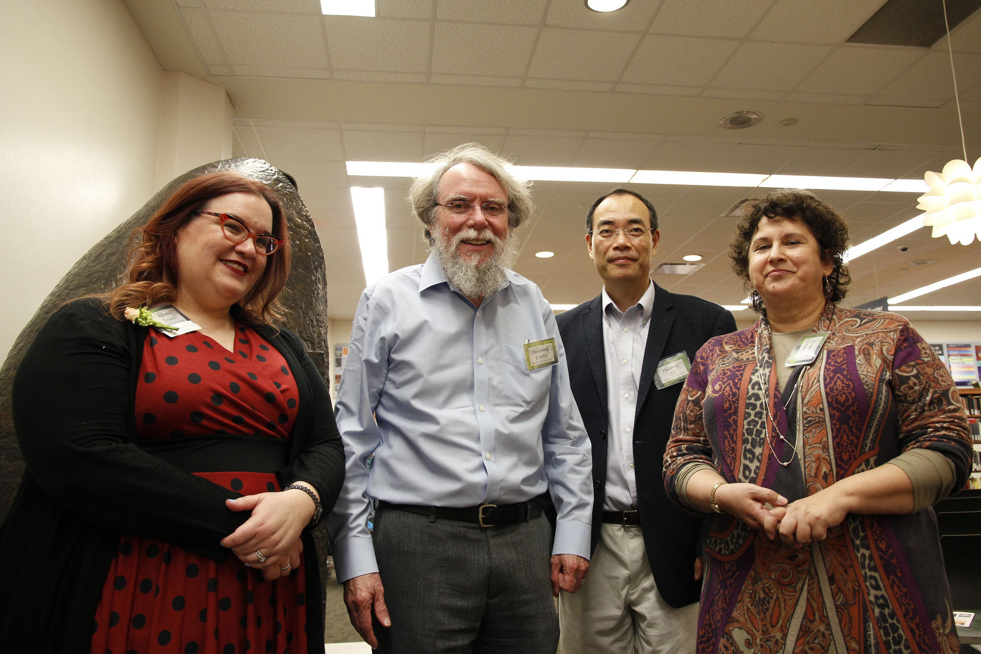 Authors, left to right: Allison Lowery, Dr. Desmond Lawler, Dr. Huaiyin Li, and grand-prize winner Dr. Denise Spellberg.