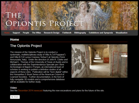 Website of The Oplontis Project.