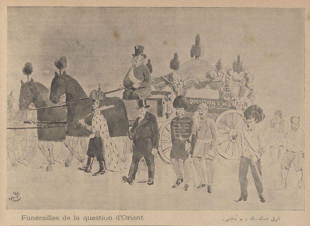 "Esad Arseven, Celal and Cimcoz, Selah, ""Funeral of the Eastern Question."" 1908."