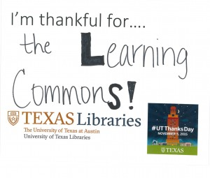 I'm thankful for the Learning Commons!