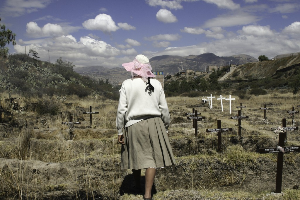 """Walking Ahead Toward Justice,"" by Alvaro Céspedes, was taken in Ayacucho, Peru, at a mass grave known as La Hoyada."