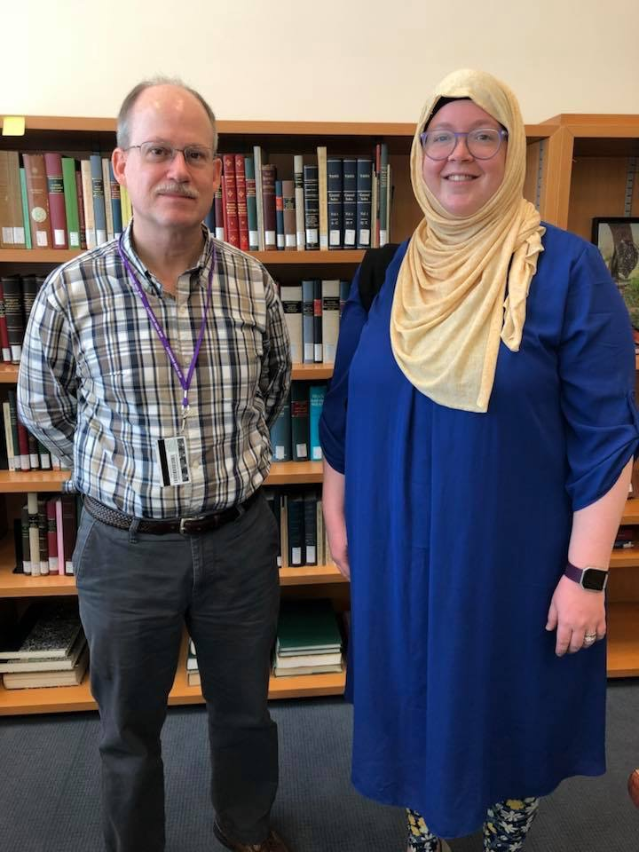 Dale with Brad Bauer, Special Collections librarian at the NYU Abu Dhabi library.