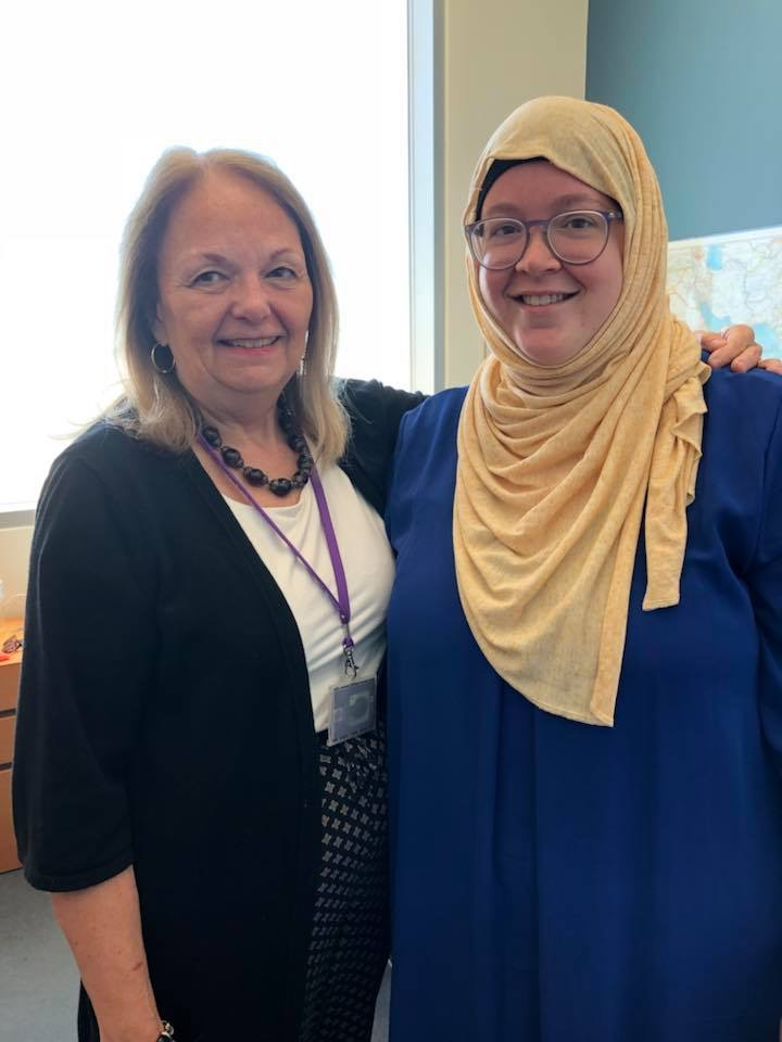 Dale with Ginny Danielson, Director of the NYU Abu Dhabi Library.