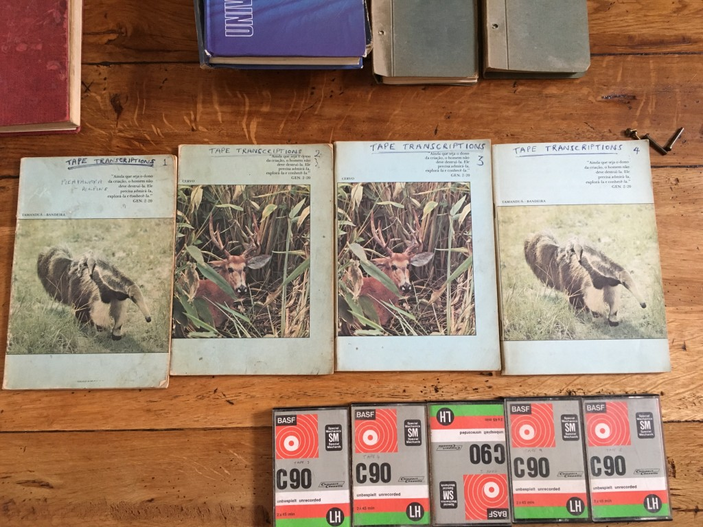 Howard Reid's collection of research materials from his ethnographic field work with the Hup in Brazil; photo: S. Kung