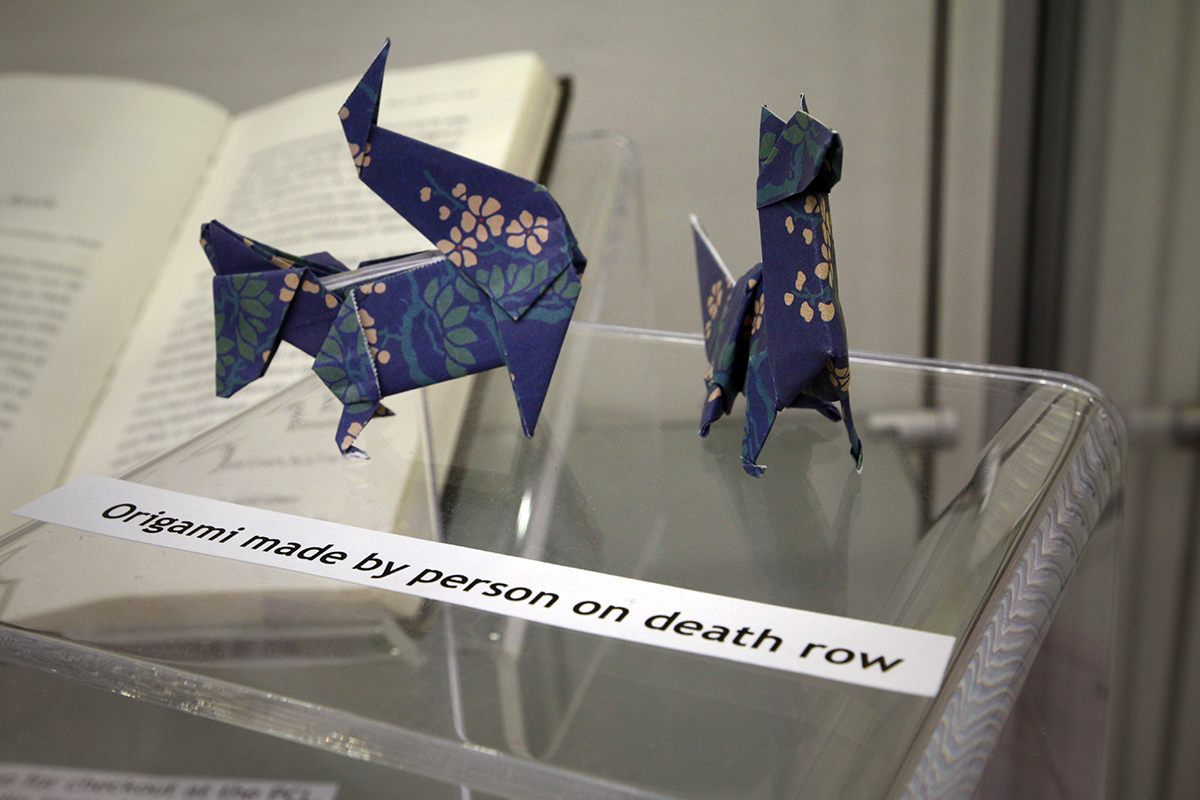 Origami by a death row inmate.