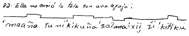 Survey in Chalcatongo Mixtec (with Spanish above), from the AILLA collection of J. Kathryn Josserand