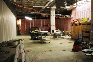 Progress in the new 44-seat Media Lab.