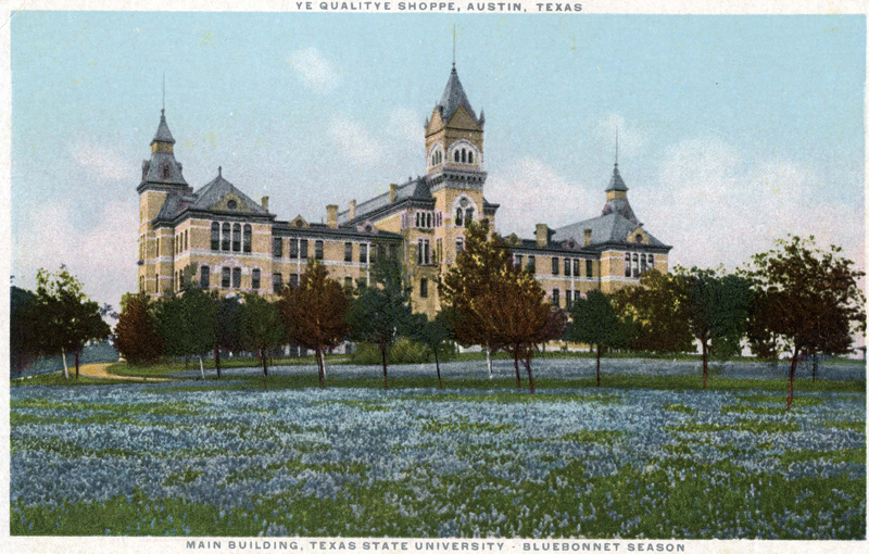 Main Building Postcard, Alexander Architectural Archives.