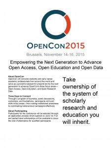 OpenCon 2015 Flyer