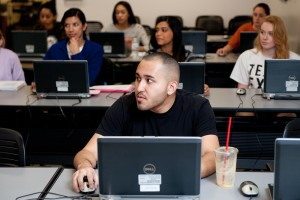 Students attending a class at PCL.