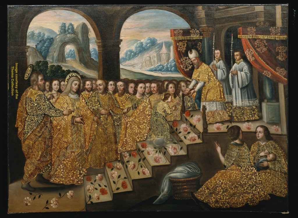 Presentation of Mary in the Temple, Cuzco, 18th c. Collection of Carl & Marilynn Thoma