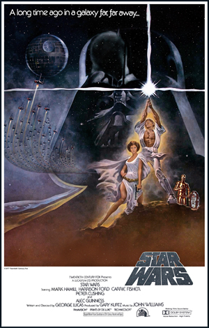 Star Wars movie poster.