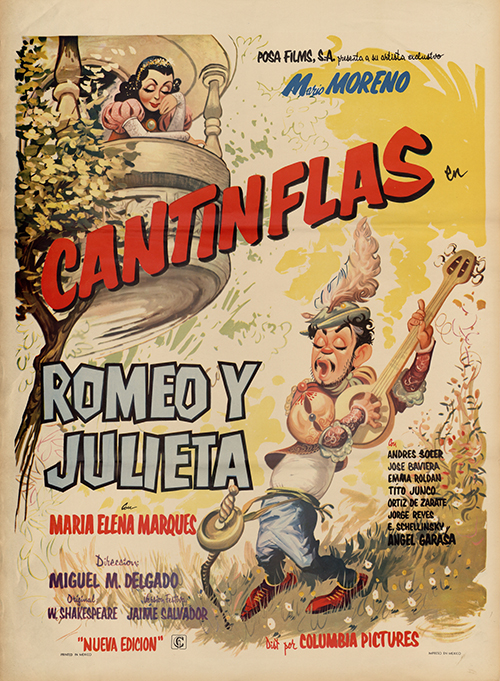 "Film poster for ""Romeo y Julieta"" (1943) from the Agrasánchez Collection of Mexican Cinema at the Benson Latin American Collection."