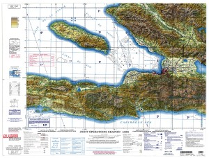 Topographic map of Haiti.