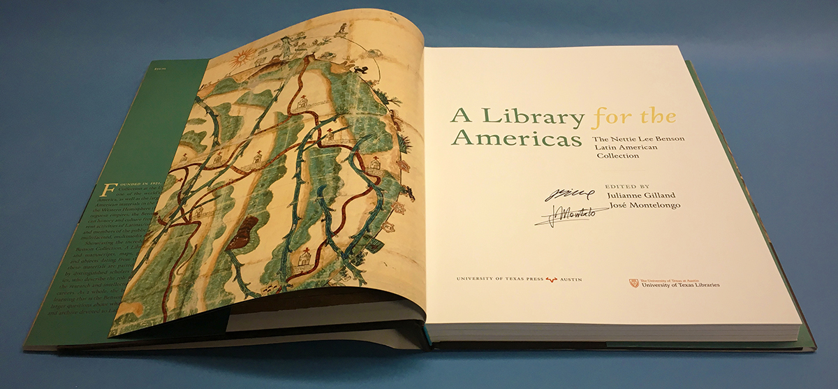 """A Library for the Americas,"" the book of the Benson Latin American Collection."