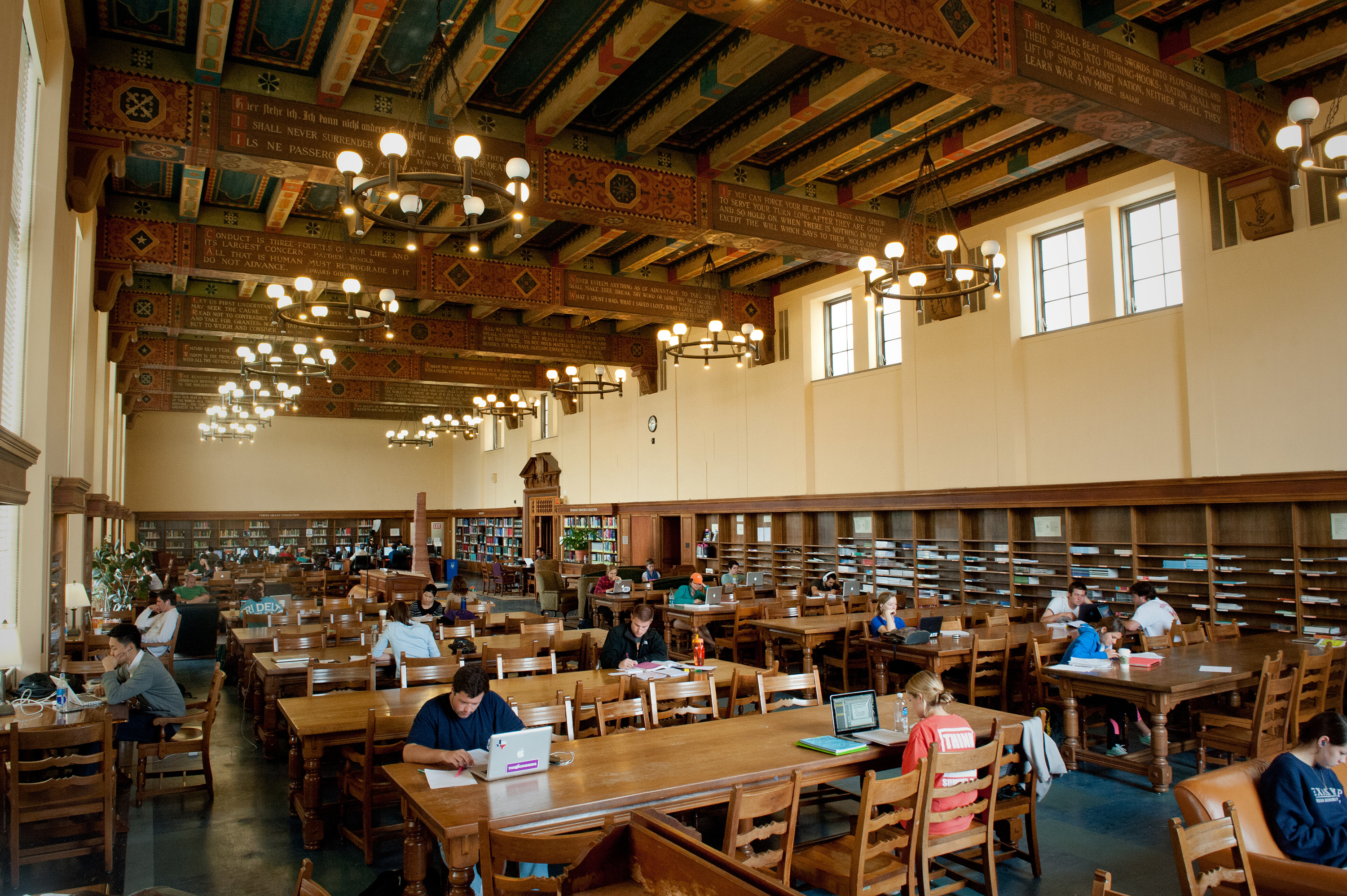 The Life Sciences Library in the UT Tower.