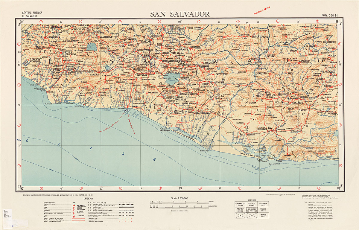 San Salvador map from the PCL Map Collection.