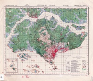 Topographic map of Singapore Island, 1941.