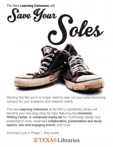 Save Your Soles at the Learning Commons.