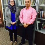 Dale J. Correa, MES Librarian, and Mahjoub Zweiri, professor of history at QU.