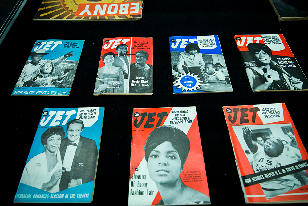 Selection of Jet magazines from the late 20th century.