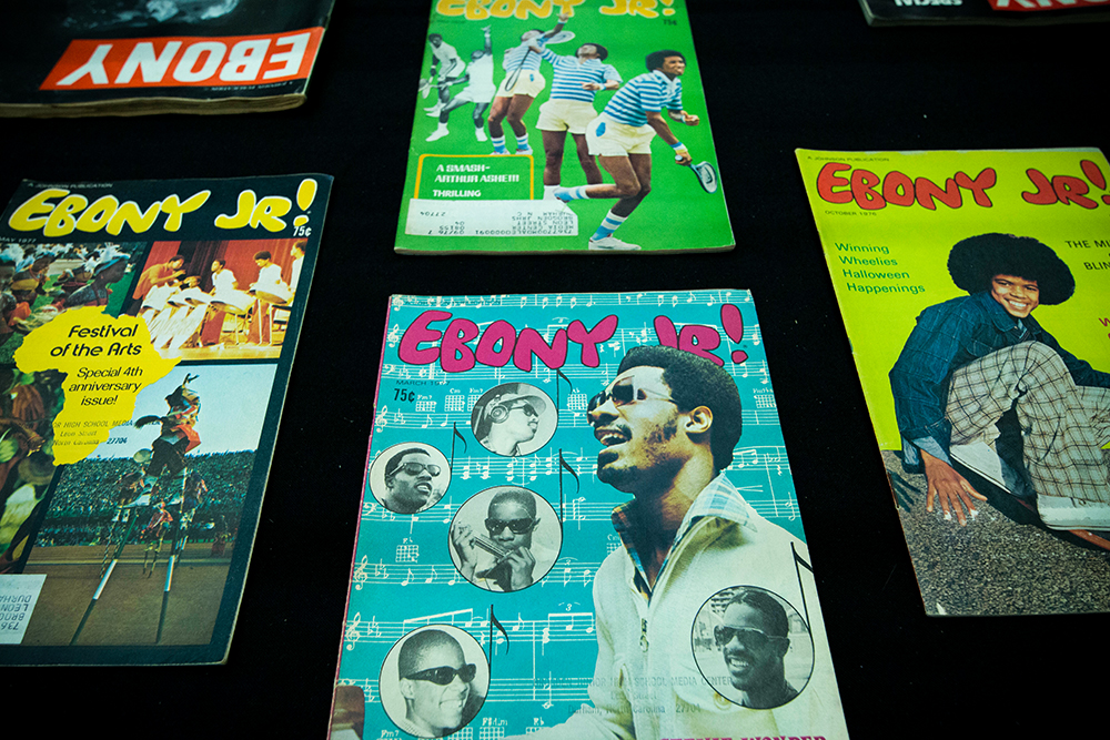Selection of Ebony, Jr. magazines.
