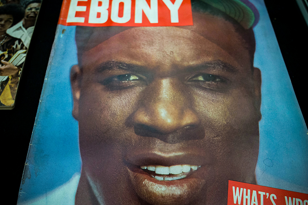 Copy of Ebony Magazine with Jackie Robinson on the cover.