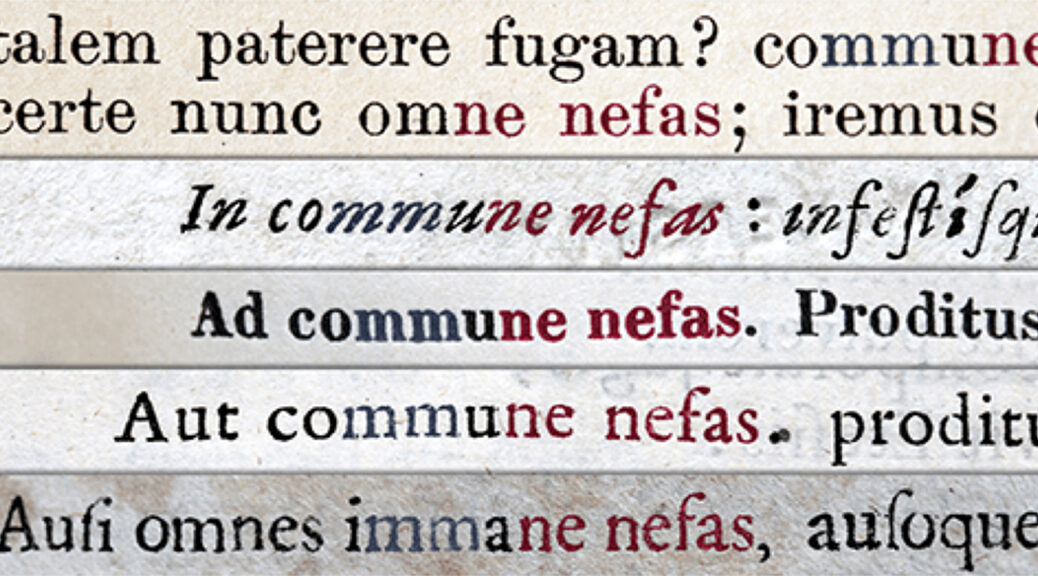 "Latin intertextual references of ""commune nefas"""