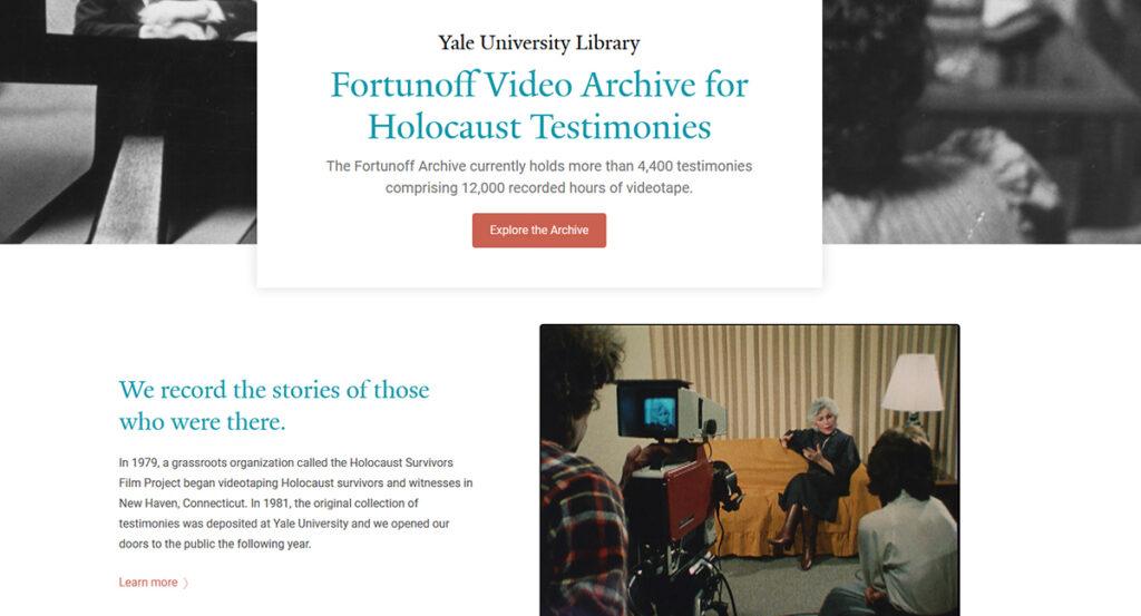 screen capture of forutnoff website