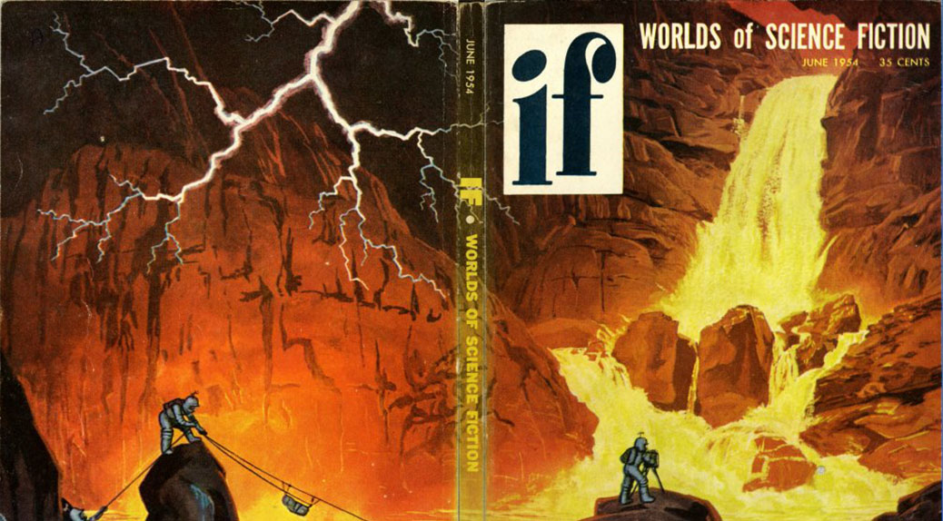 Book cover of IF series - Worlds of Science Fiction